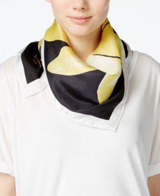 kate spade new york Large Daisy Silk Square Scarf