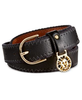 Anne Klein Cord Stitch Iconic Logo Belt