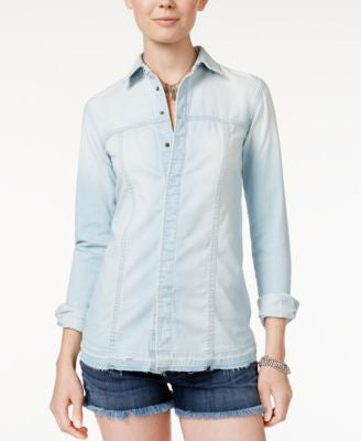 Hudson Jeans Britt Long-Sleeve Denim Shirt
