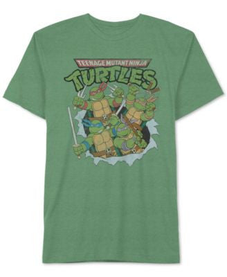 Jem Men's Teenage Mutant Ninja Turtles Break Through Graphic-Print T-Shirt