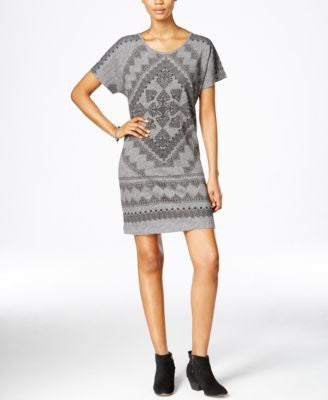 Lucky Brand Printed T-Shirt Dress