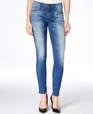 Hudson Jeans Nico Ankle Skinny Wipe Out Wash Jeans