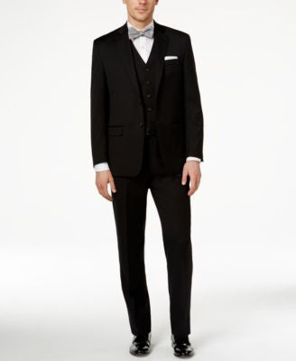 Lauren Ralph Lauren Black Vested Solid Classic-Fit Suit