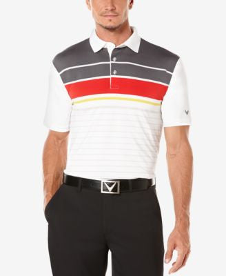 Callaway Men's Golf Performance Striped Polo