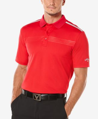 Callaway Men's Big & Tall Golf Performance Embossed Polo