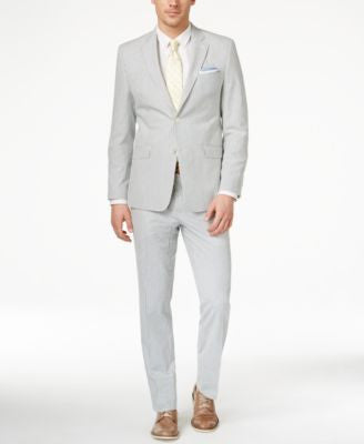 Lauren Ralph Lauren Men's Slim-Fit Blue-Striped Seersucker Suit