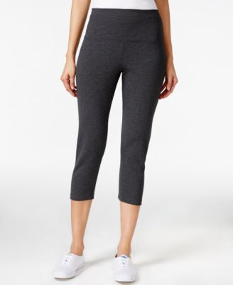 Style & Co. Tummy-Control Solid Capri Leggings, Only at Vogily