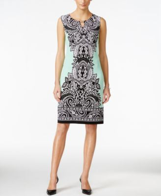 JM Collection Petite Sleeveless Paisley-Print Dress, Only at Vogily