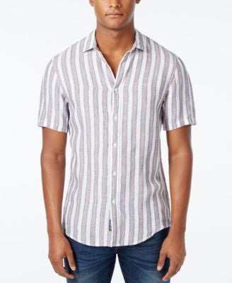 Michael Kors Men's Slim-Fit Dorian Striped Short-Sleeve Shirt