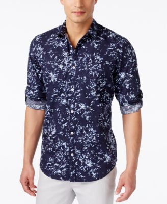INC International Concepts Men's Breakline Long-Sleeve Shirt, Only at Vogily