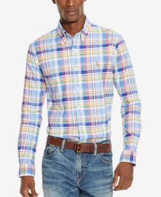 Polo Ralph Lauren Men's Men's Long Sleeve Multi-Gingham Oxford Shirt