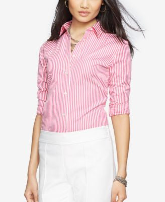 Lauren Ralph Lauren Striped Button-Front Shirt