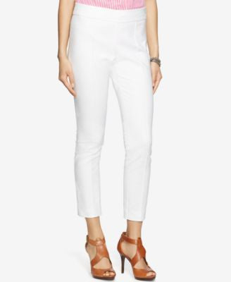 Lauren Ralph Lauren Cropped Stretch Side-Zip Pants