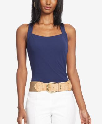 Lauren Ralph Lauren Cross-back Jersey Tank Top