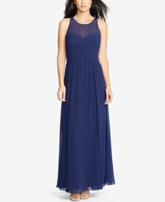 Lauren Ralph Lauren Sleeveless Ruched Gown