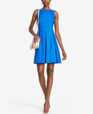 Polo Ralph Lauren Pleated Fit & Flare Dress