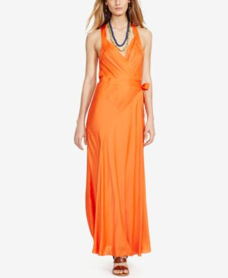 Polo Ralph Lauren Satin Wrap Dress