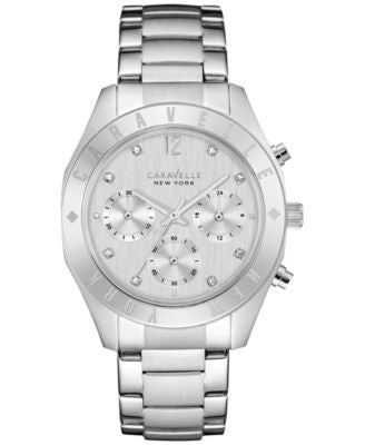 Caravelle New York by Bulova Women's Chronograph Stainless Steel Bracelet Watch 36mm 43L190