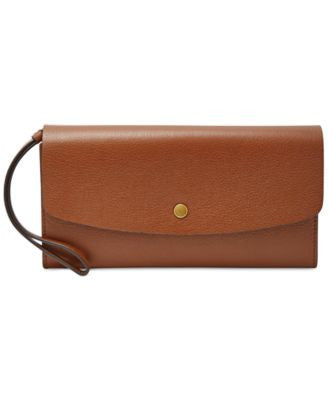 Fossil Haven Large Flap Leather Wallet