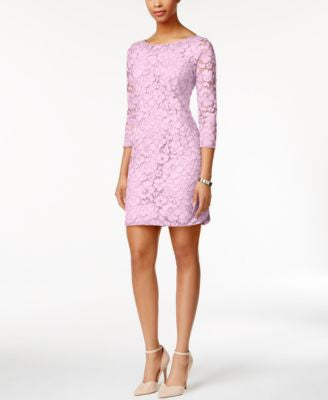 Vince Camuto Three-Quarter-Sleeve Lace Sheath Dress