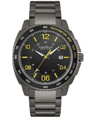 Caravelle New York by Bulova Men's Sport Gunmetal Stainless Steel Bracelet Watch 44mm 45B143