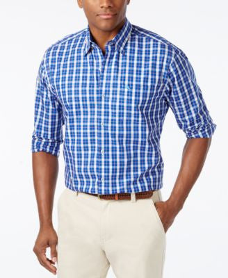 Tommy Bahama Men's Big & Tall Paradise Check Long-Sleeve Shirt