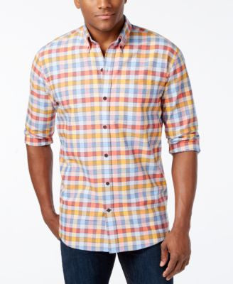 Cutter & Buck Men's Big & Tall Eclipse Check Long-Sleeve Shirt