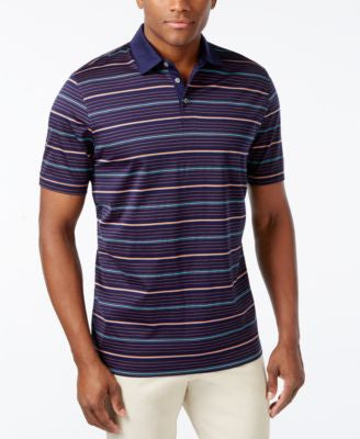 Cutter & Buck Men's Big and Tall Helios Mercerized Stripe Polo