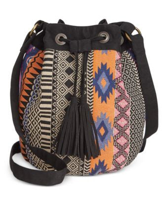 American Rag Jacquard Bucket Bag, Only at Vogily