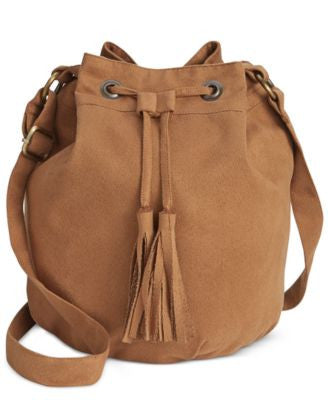 American Rag Faux-Suede Bucket Bag, Only at Vogily