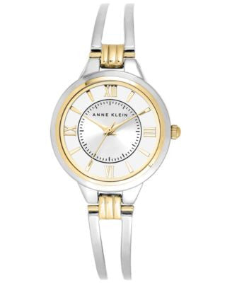 Anne Klein Watch, Women's Two-Tone Bangle Bracelet 29mm AK-1441SVTT