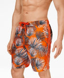 Calvin Klein Men's UV Protection Quick Dry Palm Swim Trunks