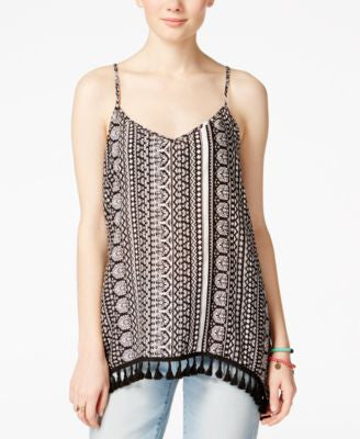 American Rag Printed Tassel-Trim Tank, Only at Vogily