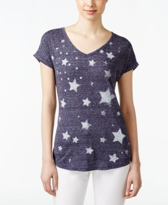 Style & Co. Star-Print T-Shirt, Only at Vogily