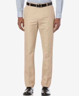 Perry Ellis Men's Lumark Solid Slim Pants