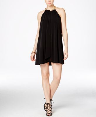 Jessica Simpson Embellished Halter Dress