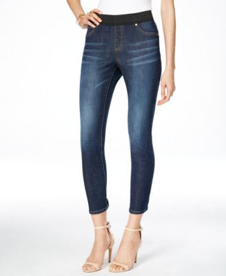 INC International Concepts Cropped Indigo Wash Jeggings, Only at Vogily
