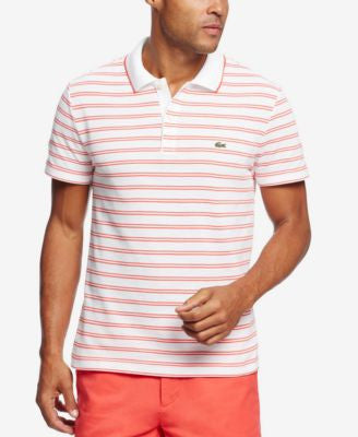 Lacoste Men's Men's Pique Jersey Striped Polo