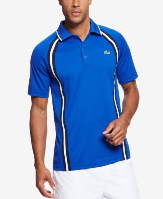 Lacoste Men's Performance Side-Striped Tennis Polo