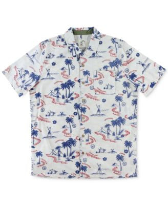 O'Neill Men's Scene Tropical-Print Short-Sleeve Shirt