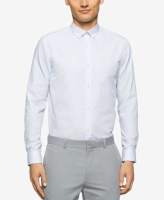 Calvin Klein Men's Cool Tech Dobby Square Shirt