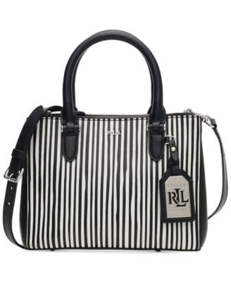Lauren Ralph Lauren Newbury Stripe Mini Double Zip Satchel