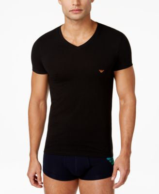 Emporio Armani Men's Ombre Eagle V-Neck T-Shirt