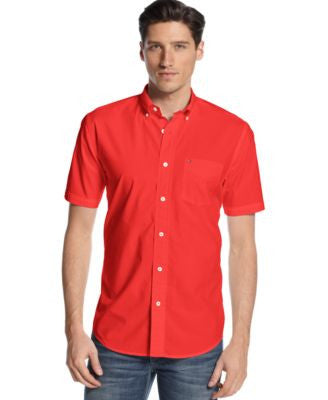 Tommy Hilfiger Men's Maxwell Short-Sleeve Button-Down Shirt