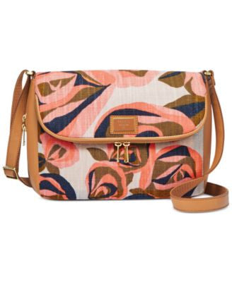 Fossil Preston Fabric Large Flap Crossbody