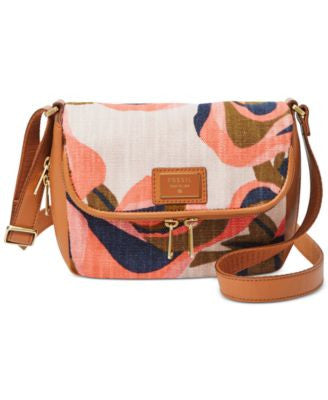 Fossil Preston Floral Small Flap Crossbody