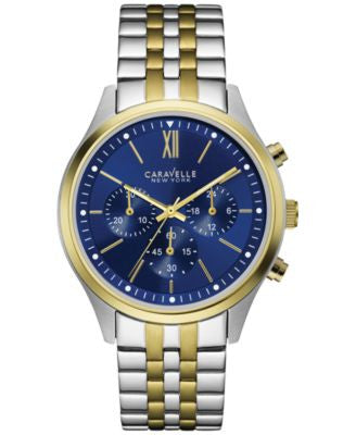 Caravelle New York by Bulova Men's Chronograph Two-Tone Stainless Steel Bracelet Watch 41mm 45A131