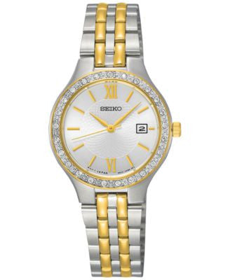 Seiko Women's Two-Tone Stainless Steel Bracelet Watch 27mm SUR758