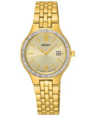 Seiko Women's Special Value Gold-Tone Stainless Steel Bracelet Watch 27mm SUR756