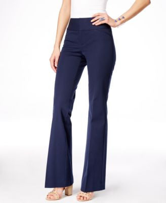 INC International Concepts Curvy-Fit Flare-Leg Trousers, Only at Vogily
